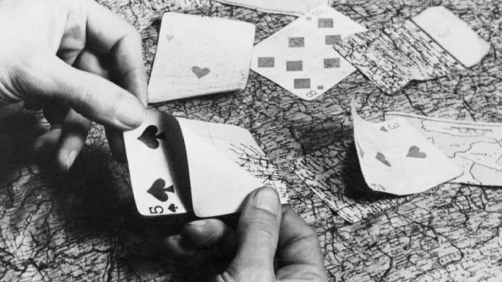 hidden map playing cards